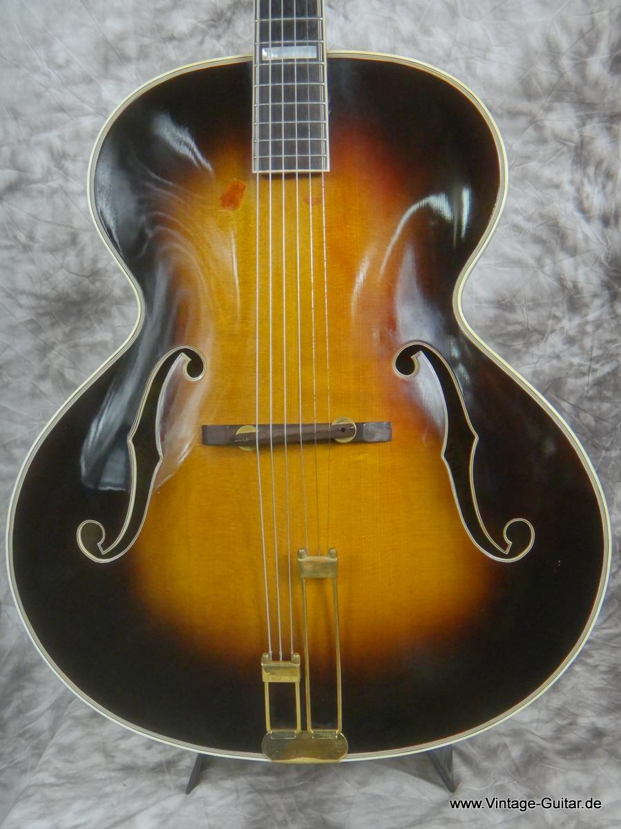 epiphone emperor 1946 sunburst guitar for sale vintage guitar oldenburg. Black Bedroom Furniture Sets. Home Design Ideas