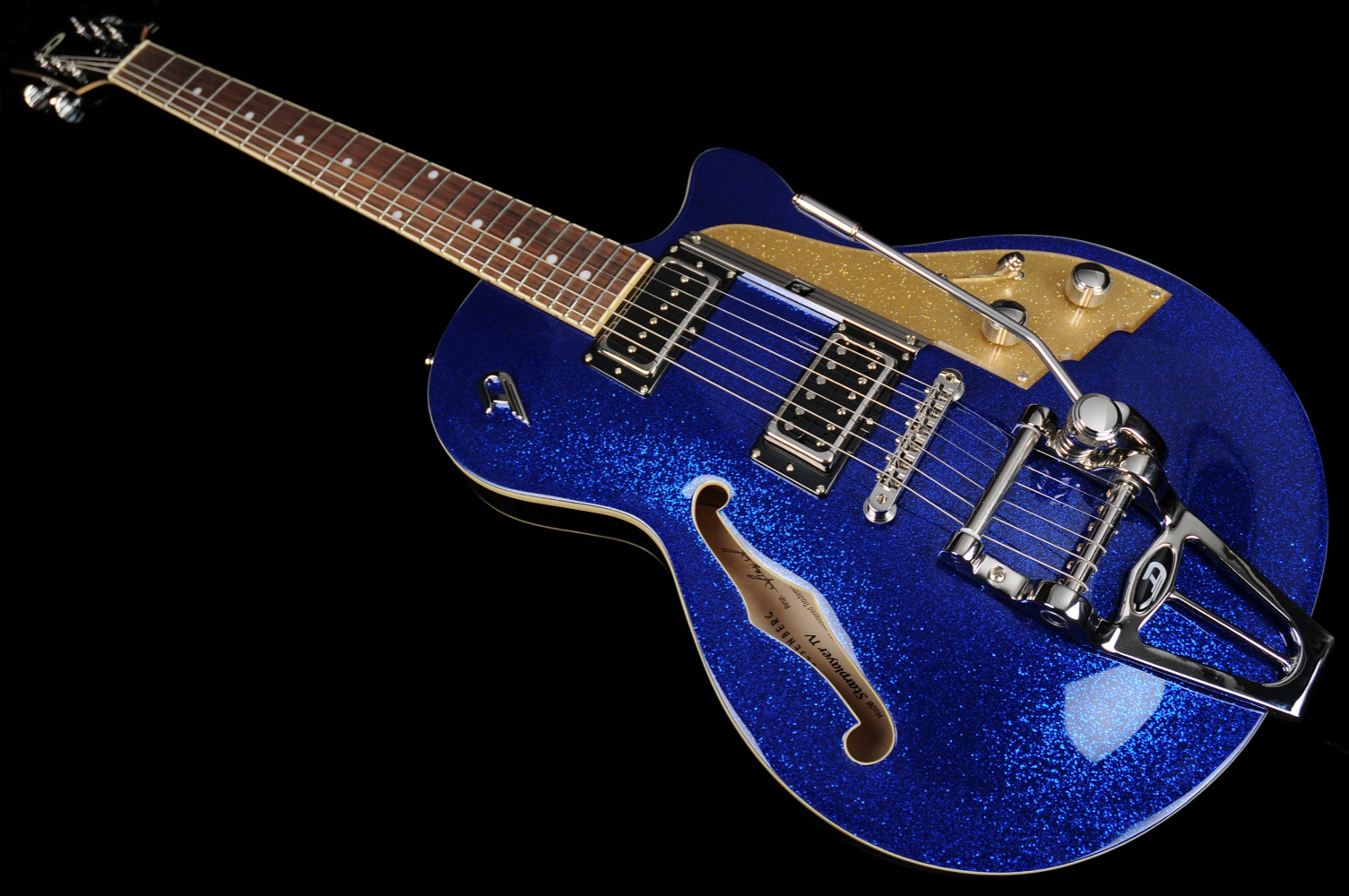 duesenberg starplayer tv blue sparkle with case 2014 guitar for sale wildwire music and audio. Black Bedroom Furniture Sets. Home Design Ideas