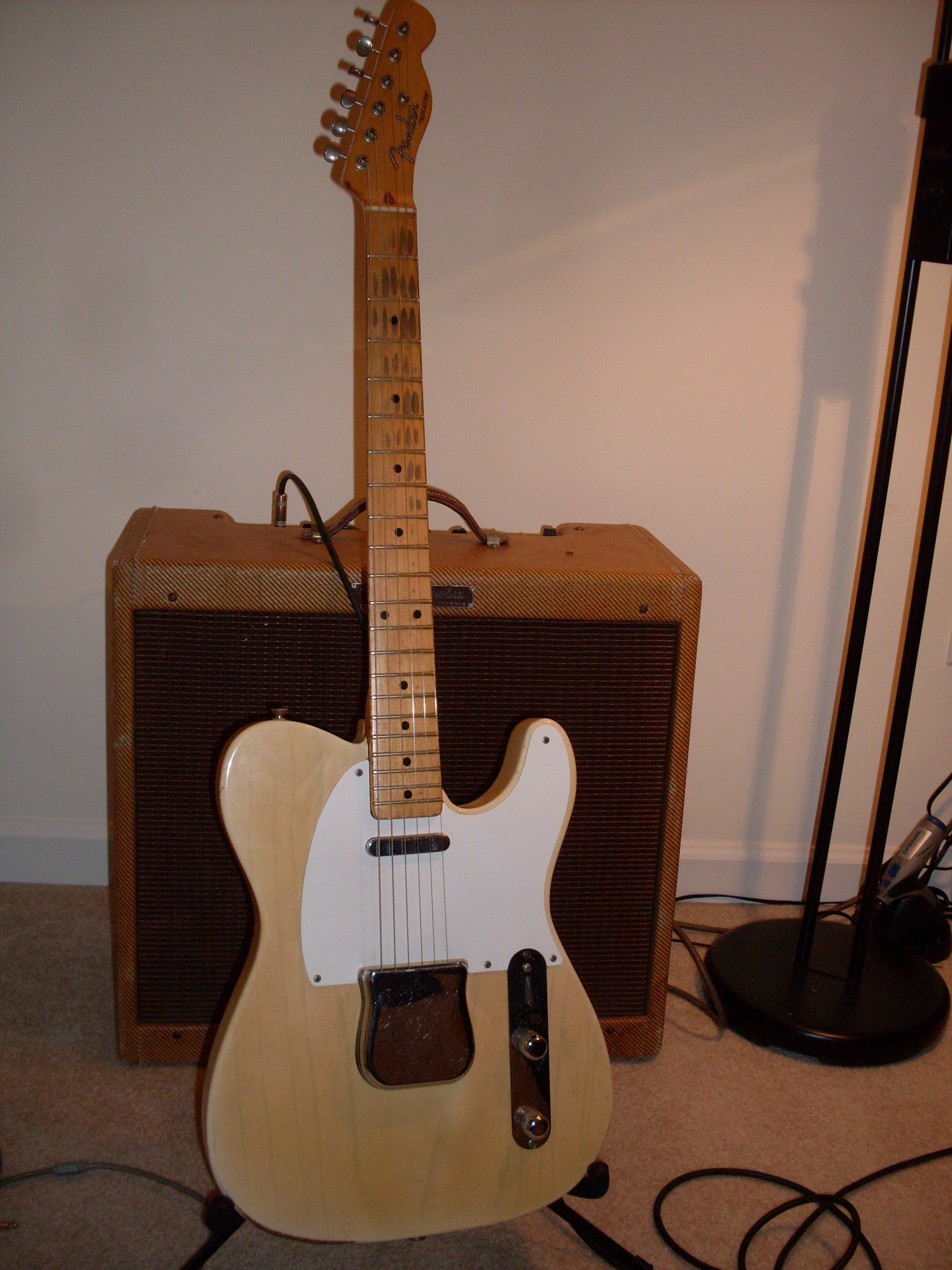 fender telecaster 1955 blonde guitar for sale ok guitars. Black Bedroom Furniture Sets. Home Design Ideas