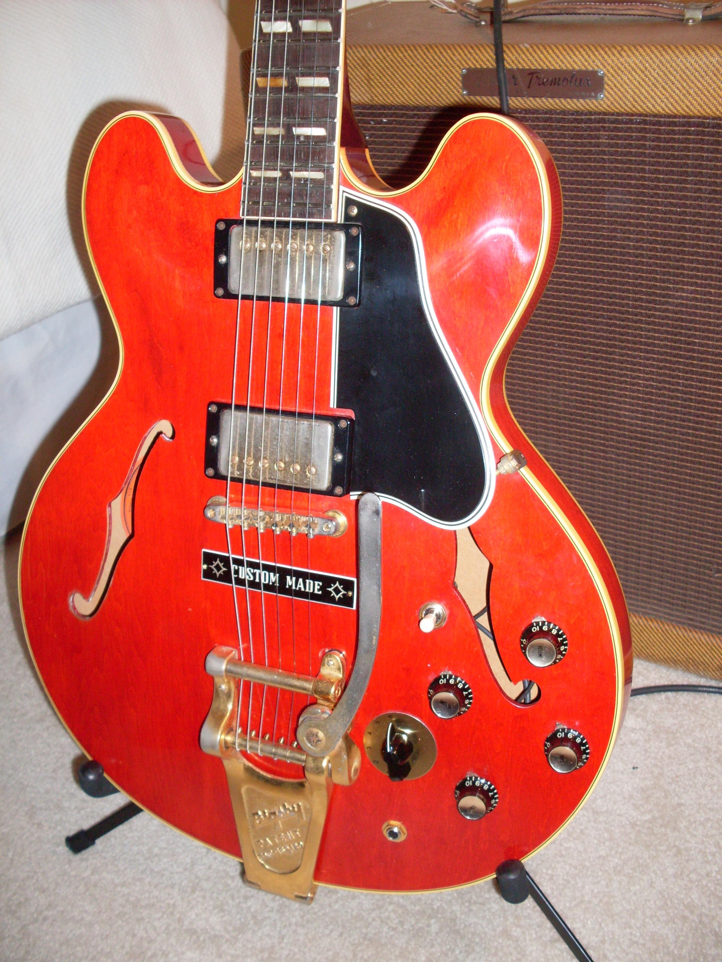 gibson es 345 1960 red guitar for sale ok guitars. Black Bedroom Furniture Sets. Home Design Ideas