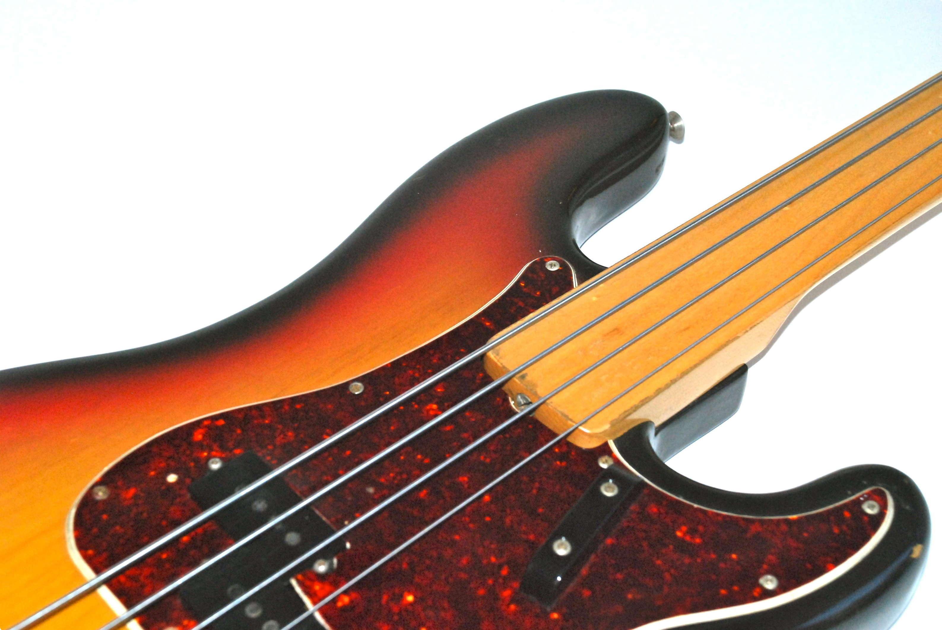 fender precision bass fretless 1971 sunburst bass for sale bass n guitar. Black Bedroom Furniture Sets. Home Design Ideas