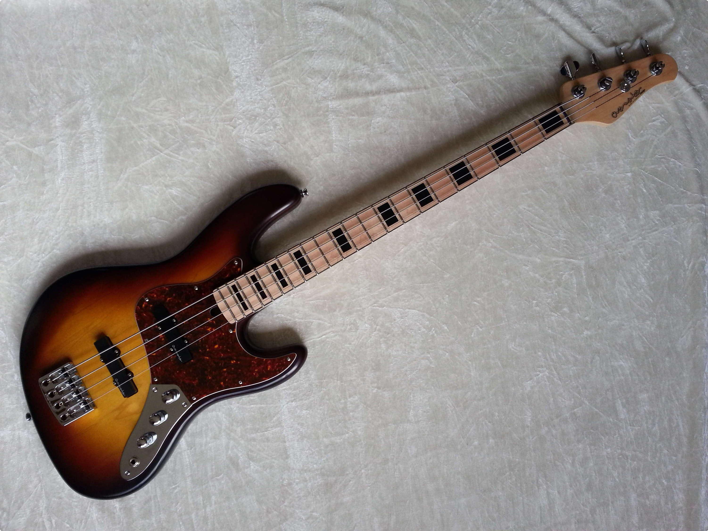 overwater standard jazz bass active passive 2014 sunburst bass for sale cotswold bass guitars. Black Bedroom Furniture Sets. Home Design Ideas
