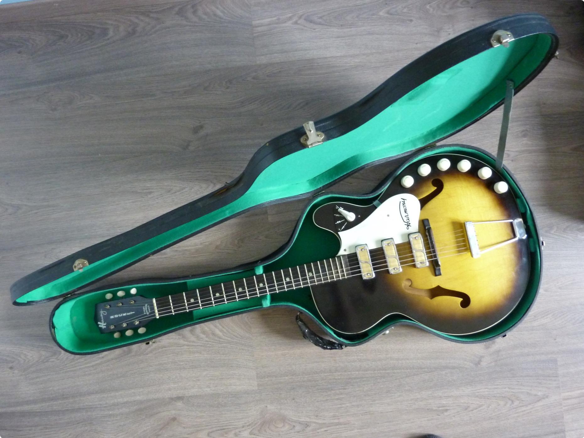 harmony rocket h59 1961 sunburst guitar for sale hender amps. Black Bedroom Furniture Sets. Home Design Ideas