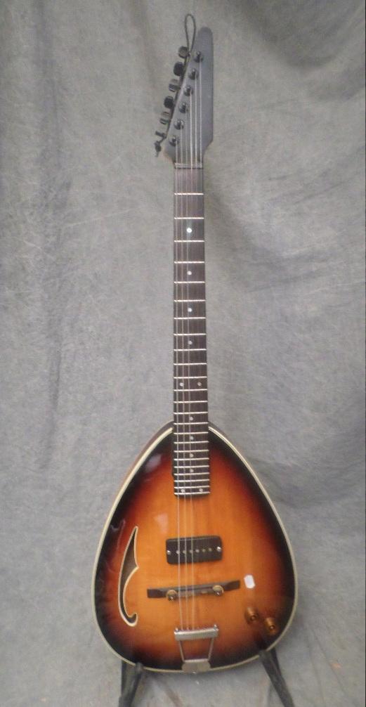 kawai teisco teardrop 1960 39 s darkburst guitar for sale twang. Black Bedroom Furniture Sets. Home Design Ideas