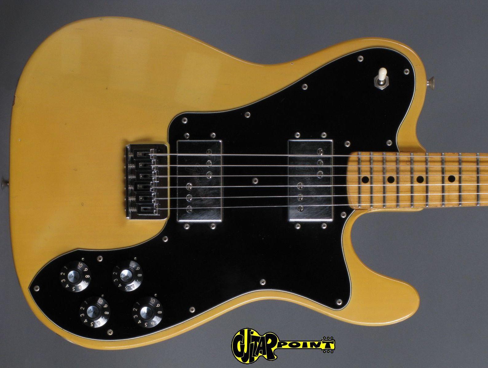 fender telecaster deluxe 1974 blond guitar for sale guitarpoint. Black Bedroom Furniture Sets. Home Design Ideas