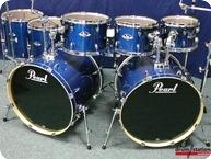 Pearl Export Double Bassdrum Set 2016 Electric Blue Sparkle Wrap