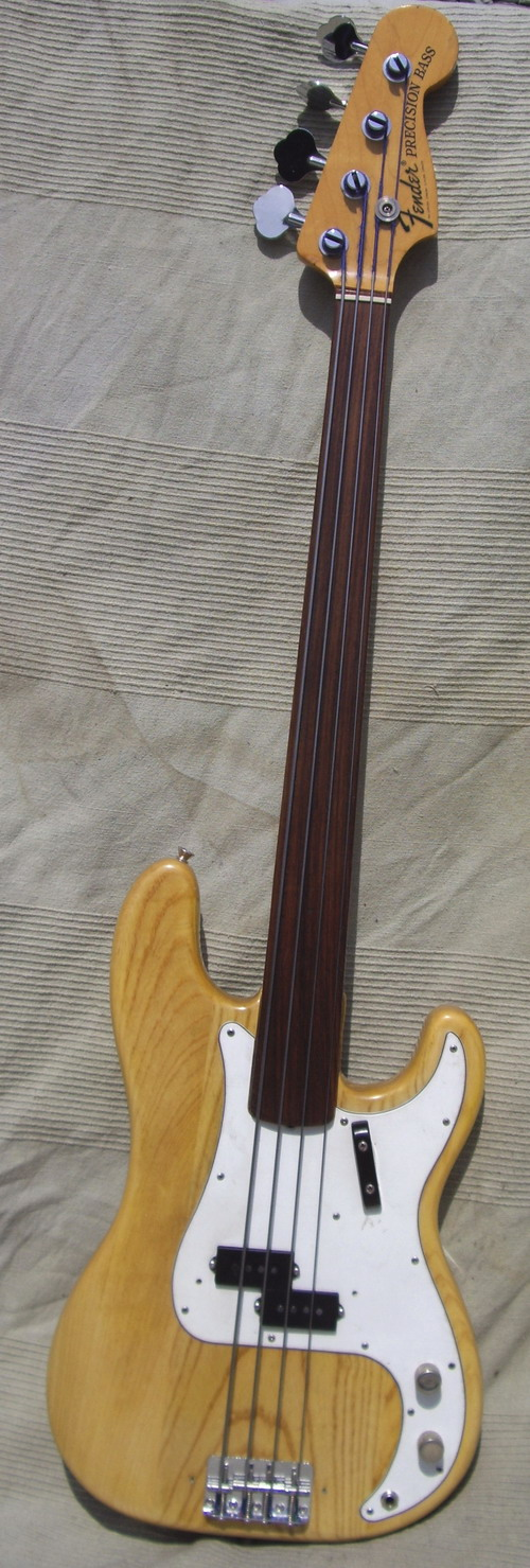 fender precision fretless 1972 natural bass for sale hendrix guitars. Black Bedroom Furniture Sets. Home Design Ideas