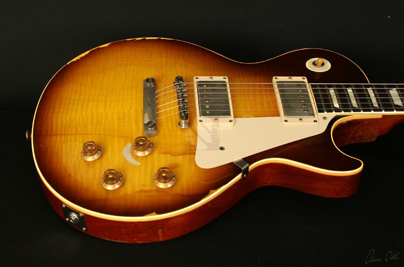 gibson les paul 59 joe perry aged and signed 2013 guitar for sale ten guitars. Black Bedroom Furniture Sets. Home Design Ideas