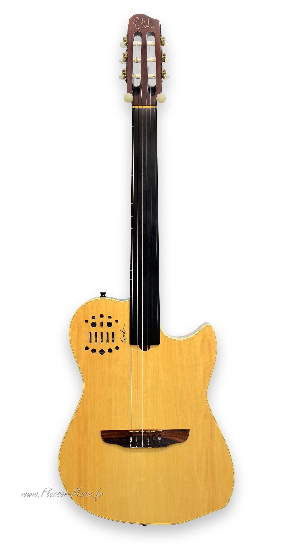godin fretless sa 2009 guitar for sale fluxson music. Black Bedroom Furniture Sets. Home Design Ideas