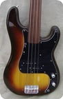 Fender Precision Bass Fretless 1981 Sunburst