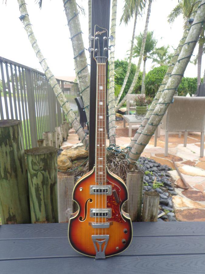 kingston violin bass 1965 sunburst bass for sale guitarbroker. Black Bedroom Furniture Sets. Home Design Ideas