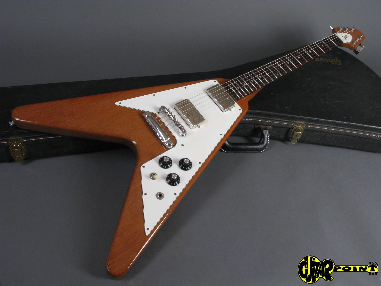 gibson flying v 1980 natural guitar for sale guitarpoint. Black Bedroom Furniture Sets. Home Design Ideas