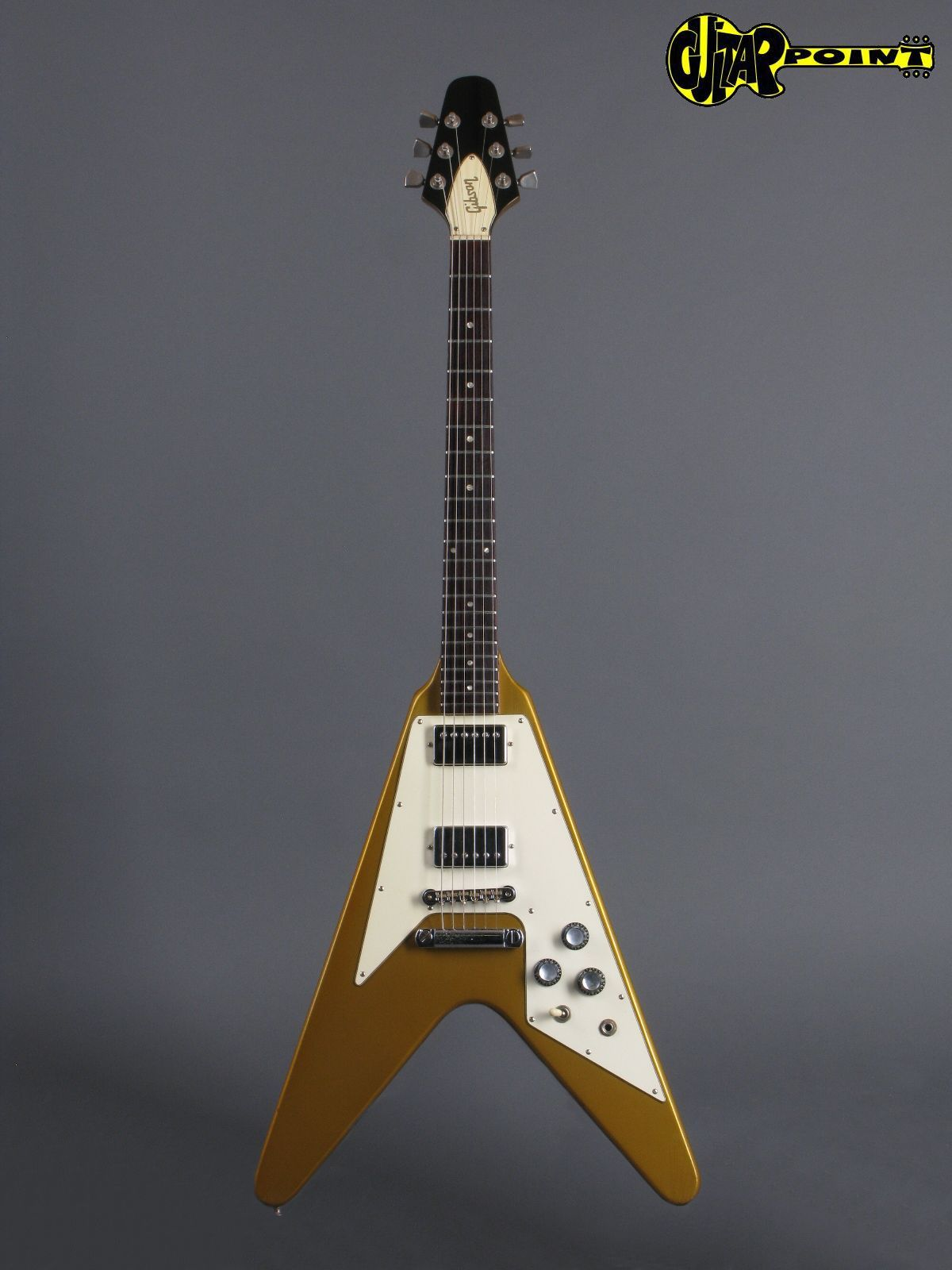 gibson flying v 1980 gold guitar for sale guitarpoint. Black Bedroom Furniture Sets. Home Design Ideas