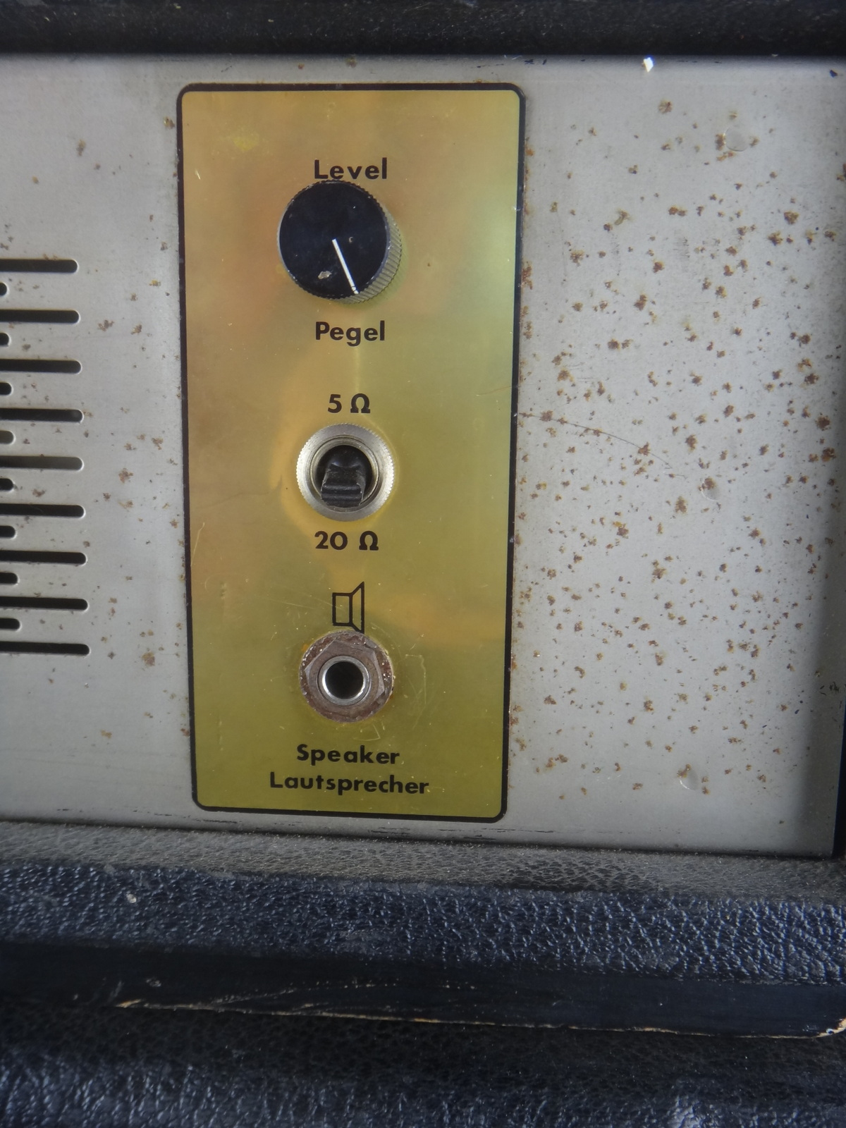 echolette bs 40   et 100 2x12 inch cabinet 1960 u0026 39 s black tolex amp for sale vintage guitar oldenburg