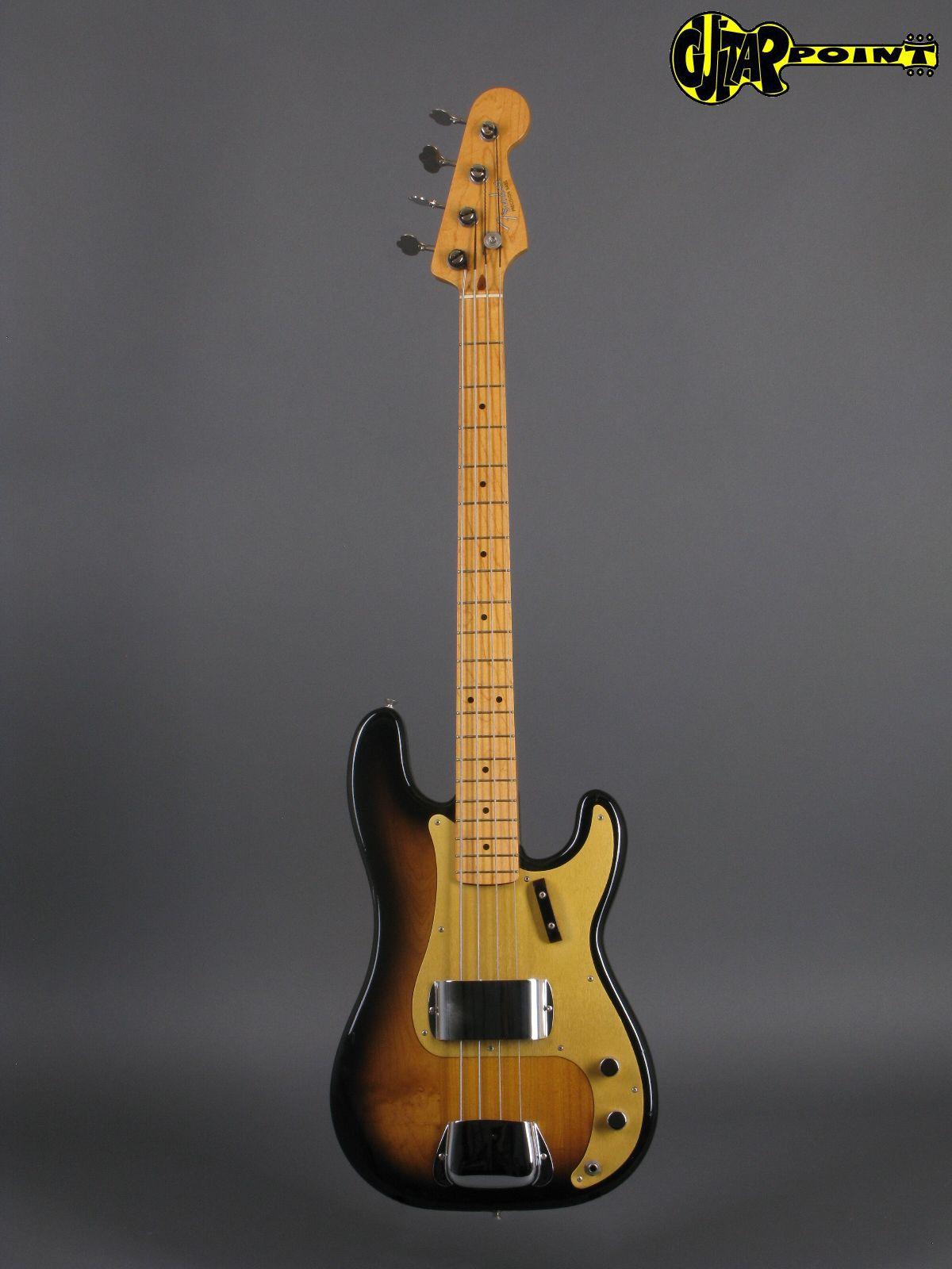 fender 1957 precision fullerton reissue 1982 2 tone sunburst bass for sale guitarpoint. Black Bedroom Furniture Sets. Home Design Ideas