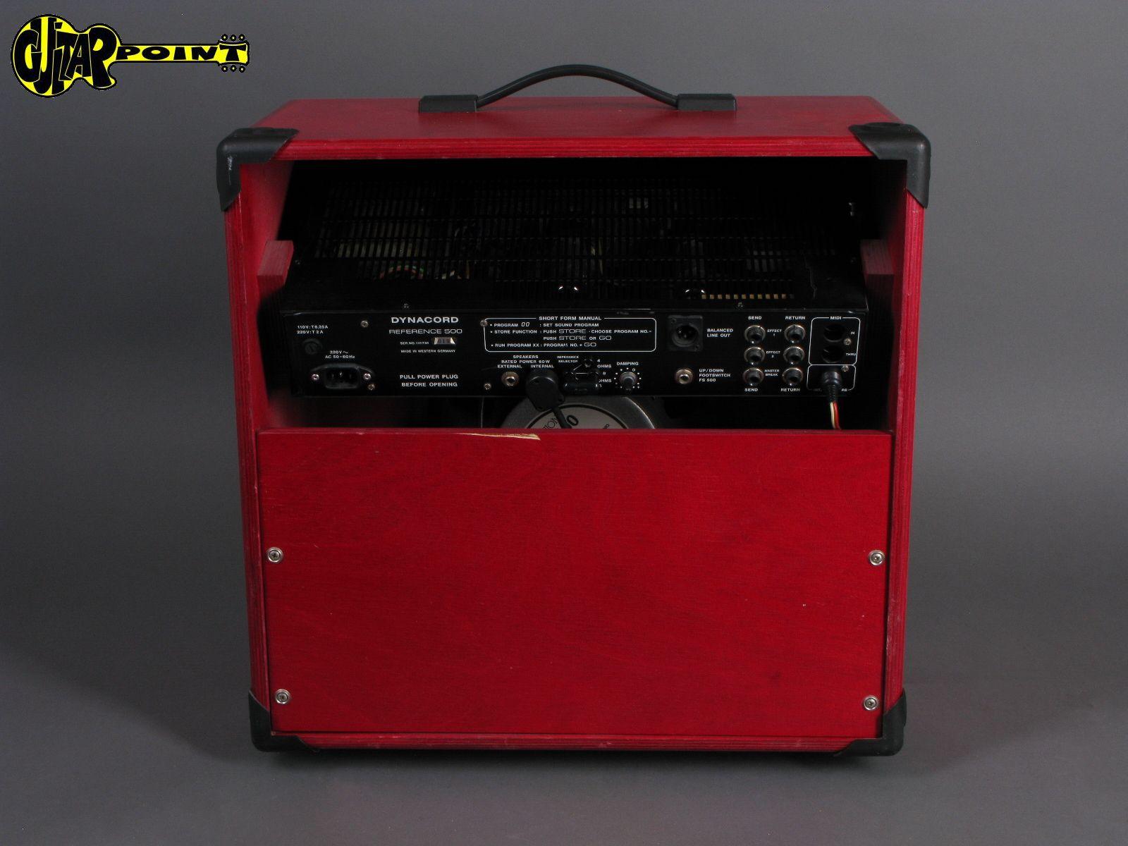 dynacord reference 500 65 watt tube amp 1985 red amp for sale guitarpoint. Black Bedroom Furniture Sets. Home Design Ideas