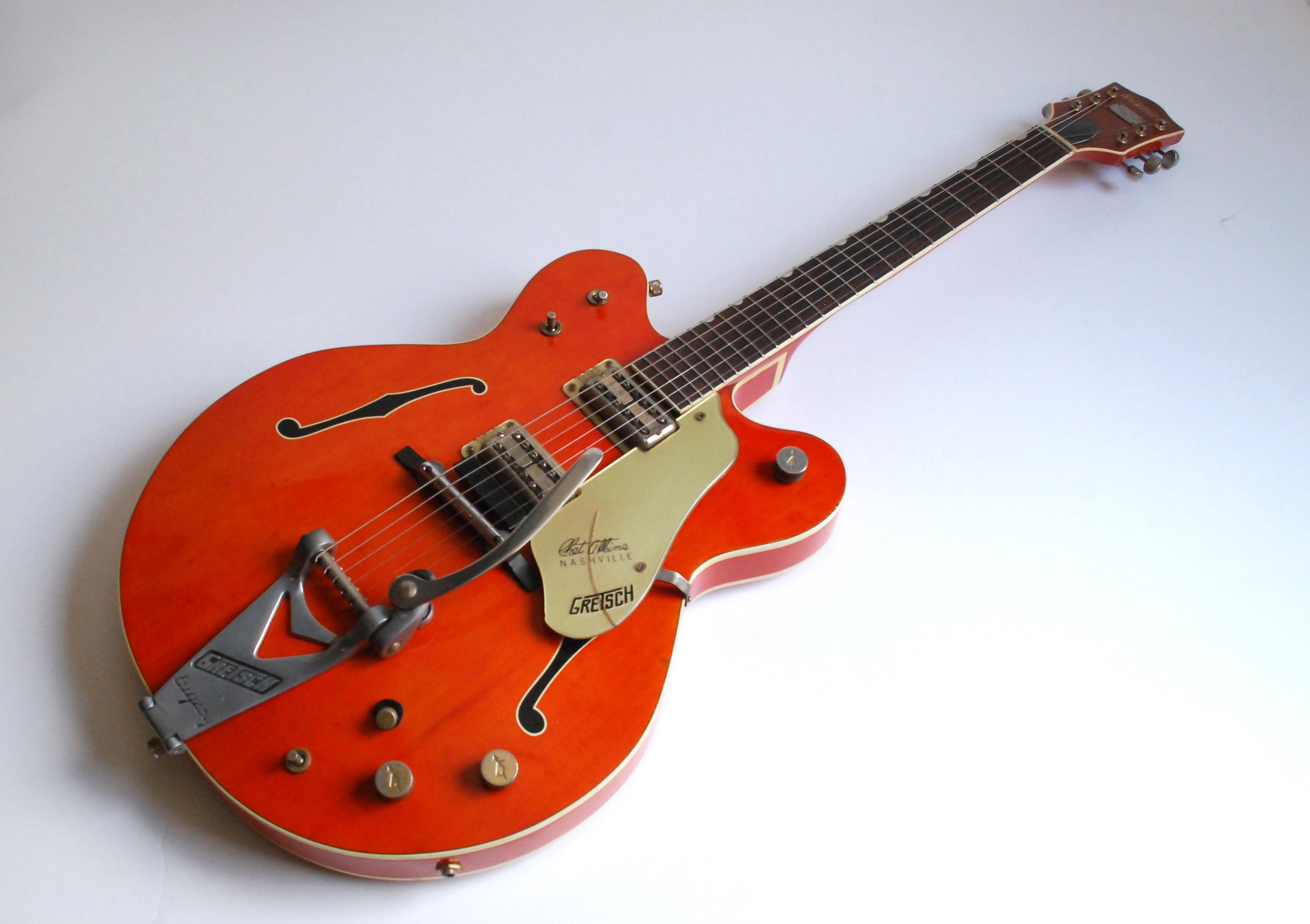 gretsch chet atkins 6120 1964 orange guitar for sale bass n guitar. Black Bedroom Furniture Sets. Home Design Ideas