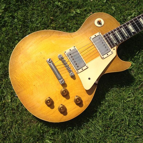 gibson les paul standard 1959 lemon drop burst guitar for sale denmark street guitars. Black Bedroom Furniture Sets. Home Design Ideas