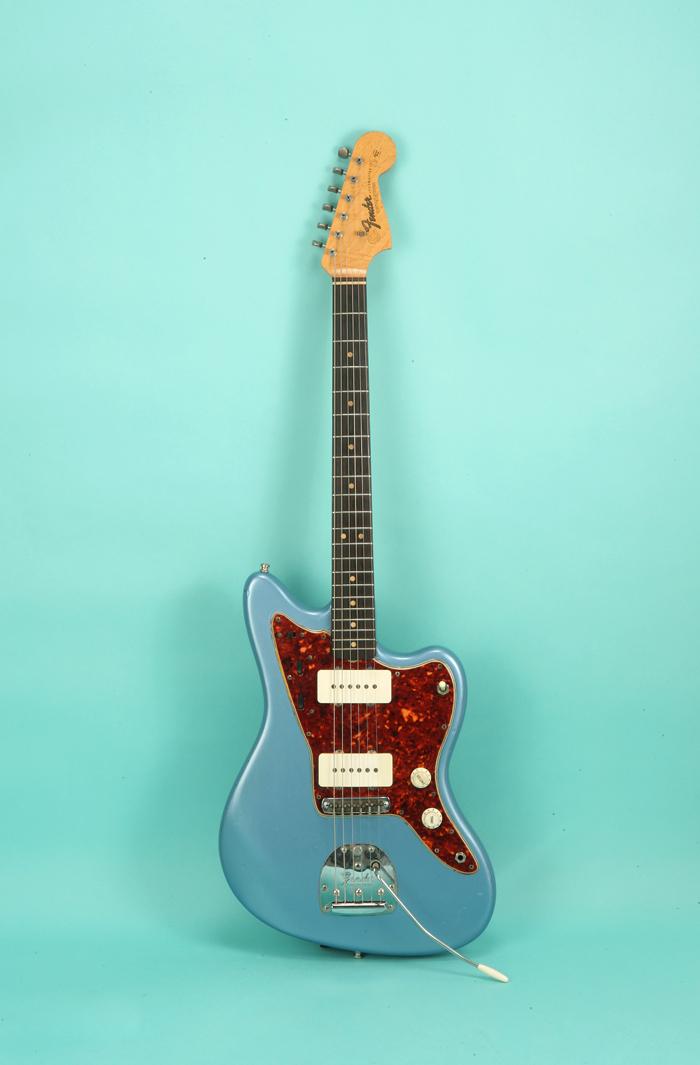 fender jazzmaster 1964 blue guitar for sale jay rosen music. Black Bedroom Furniture Sets. Home Design Ideas