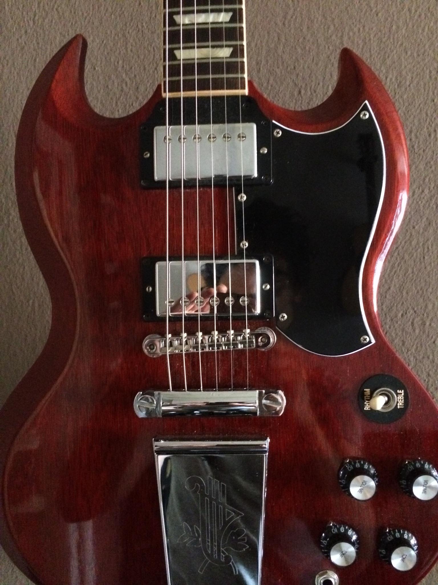 gibson sg derek trucks 2012 heritage cherry guitar for sale the wooden. Black Bedroom Furniture Sets. Home Design Ideas