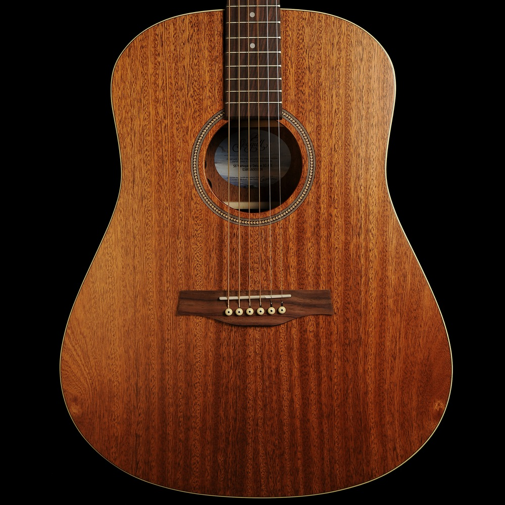 seagull s6 mahogany deluxe sg electro acoustic guitar solid top with mahogany back sides. Black Bedroom Furniture Sets. Home Design Ideas