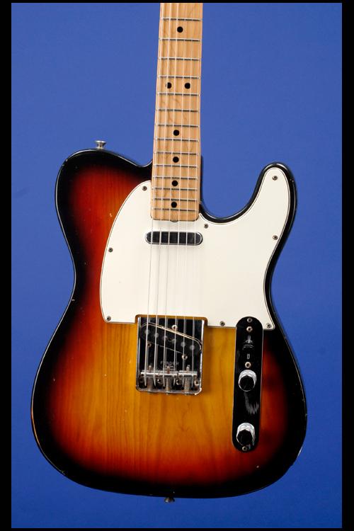 fender telecaster 1166 1970 sunburst guitar for sale fretted americana. Black Bedroom Furniture Sets. Home Design Ideas