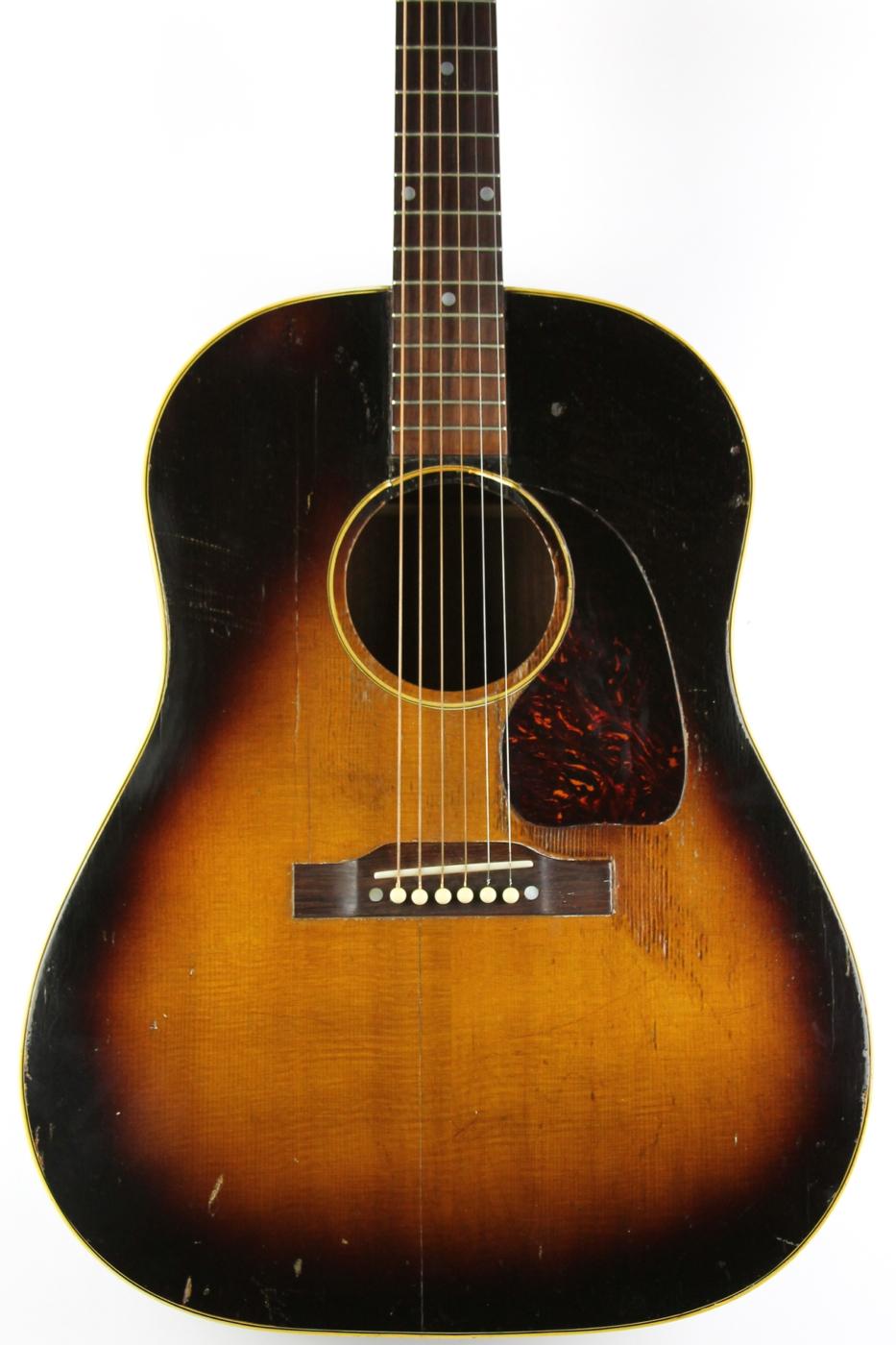 gibson j45 1953 sunburst guitar for sale thunder road guitars. Black Bedroom Furniture Sets. Home Design Ideas