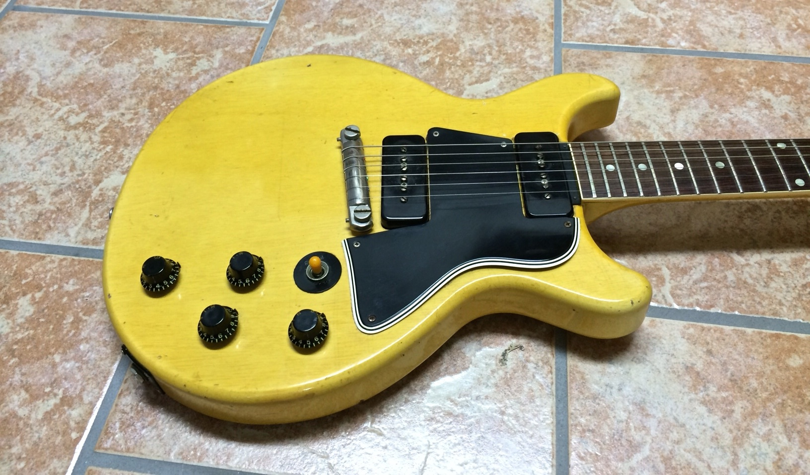 gibson les paul tv special 1959 tv yellow guitar for sale anders anderson guitars. Black Bedroom Furniture Sets. Home Design Ideas