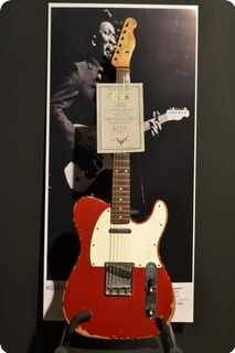 fender telecaster muddy waters tribute custom shop 2004 candy apple red guitar for sale rjv guitars. Black Bedroom Furniture Sets. Home Design Ideas