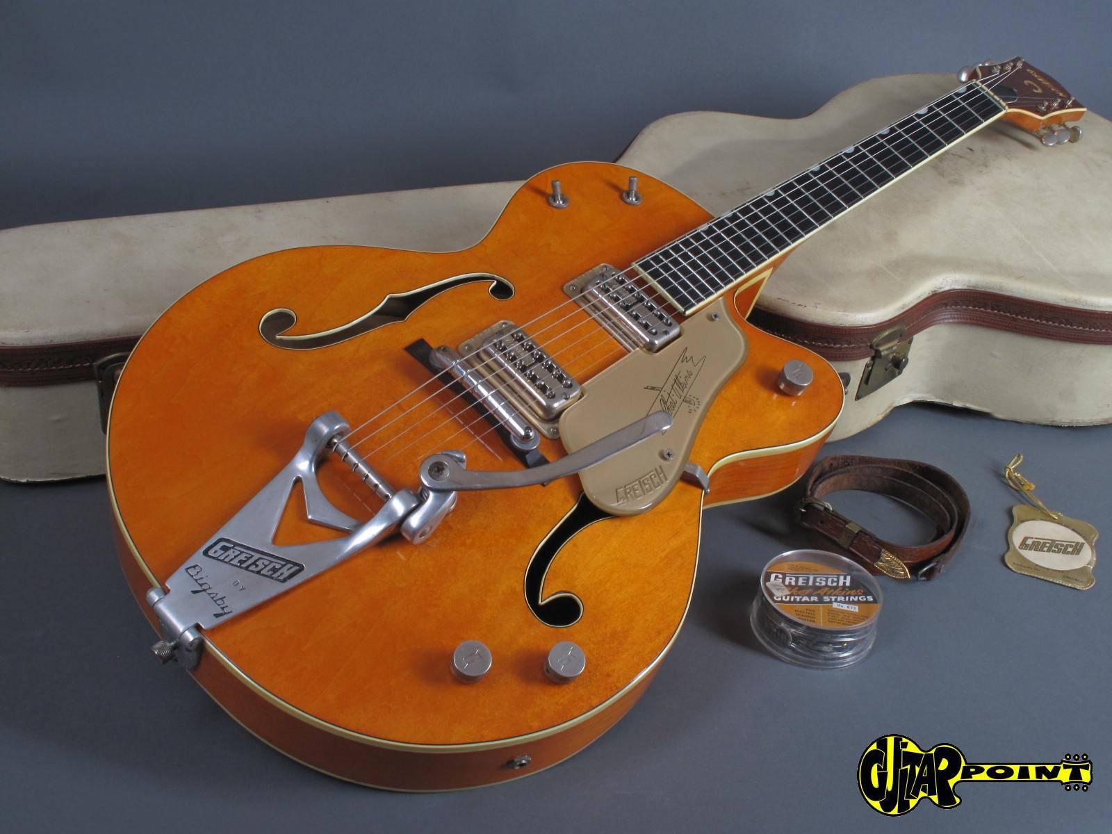 gretsch 6120 chet atkins 1959 orange guitar for sale guitarpoint. Black Bedroom Furniture Sets. Home Design Ideas