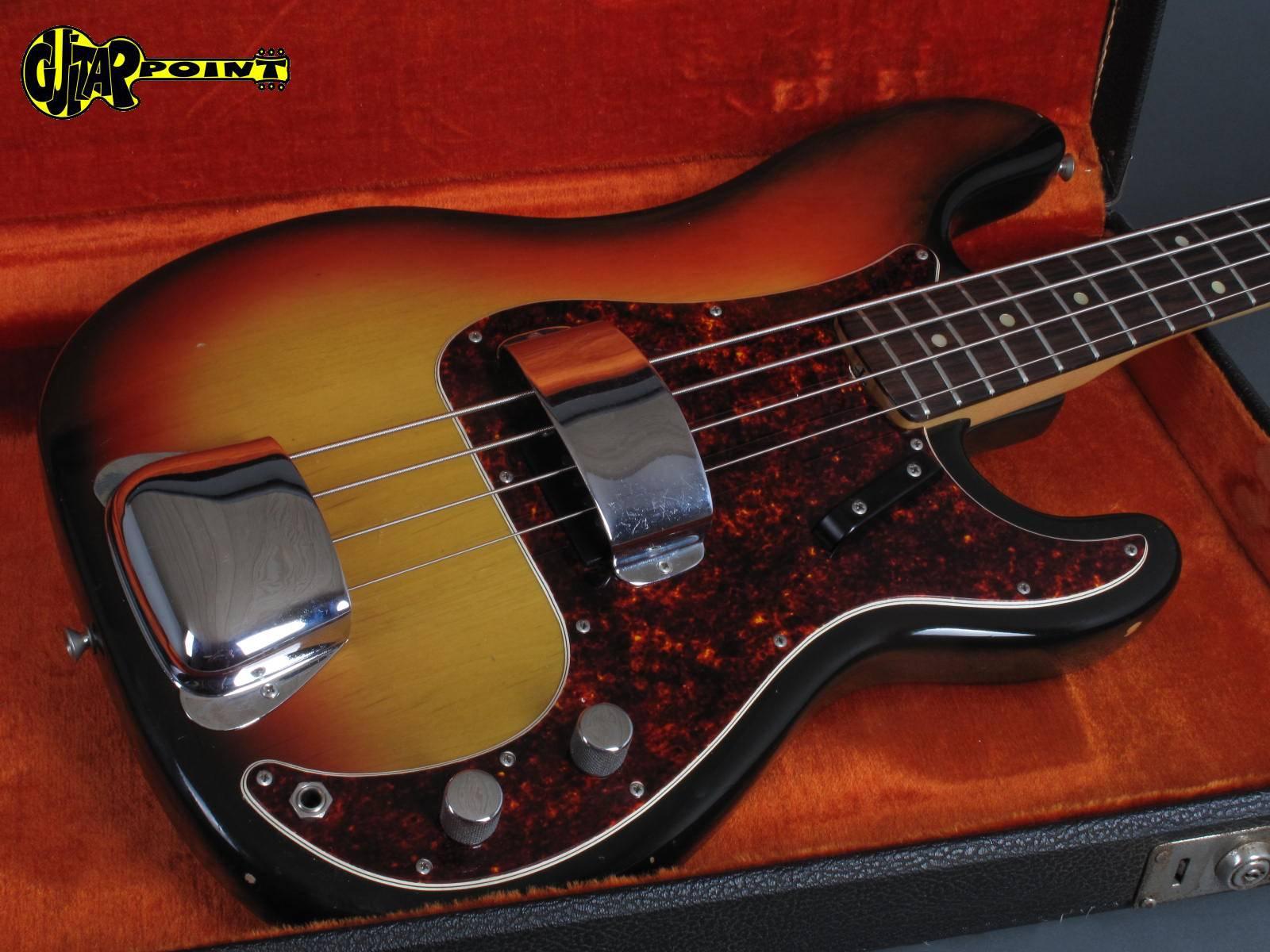 fender precision p bass 1971 3 tone sunburst bass for sale guitarpoint. Black Bedroom Furniture Sets. Home Design Ideas