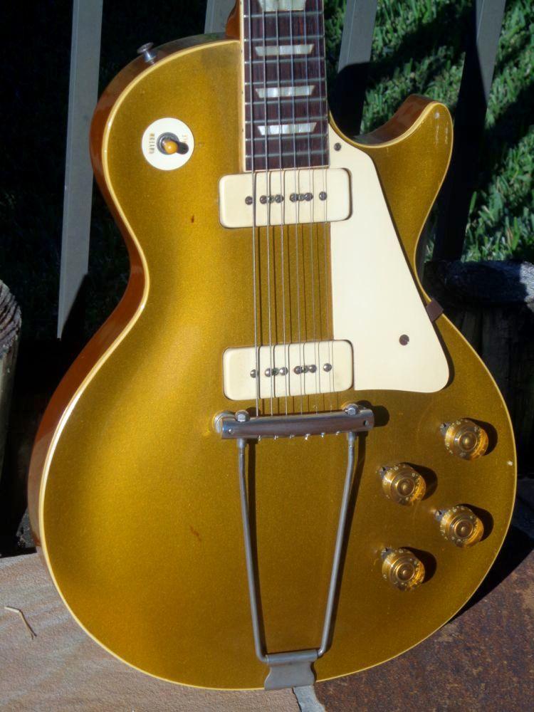 gibson les paul standard 1952 gold top guitar for sale guitarbroker. Black Bedroom Furniture Sets. Home Design Ideas
