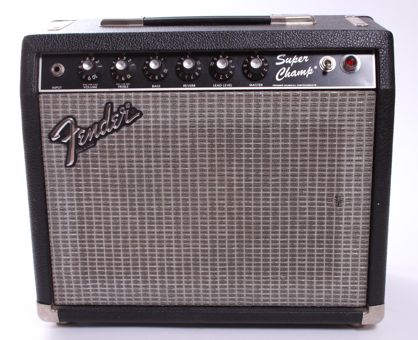 fender super champ 1984 black amp for sale yeahman 39 s guitars. Black Bedroom Furniture Sets. Home Design Ideas