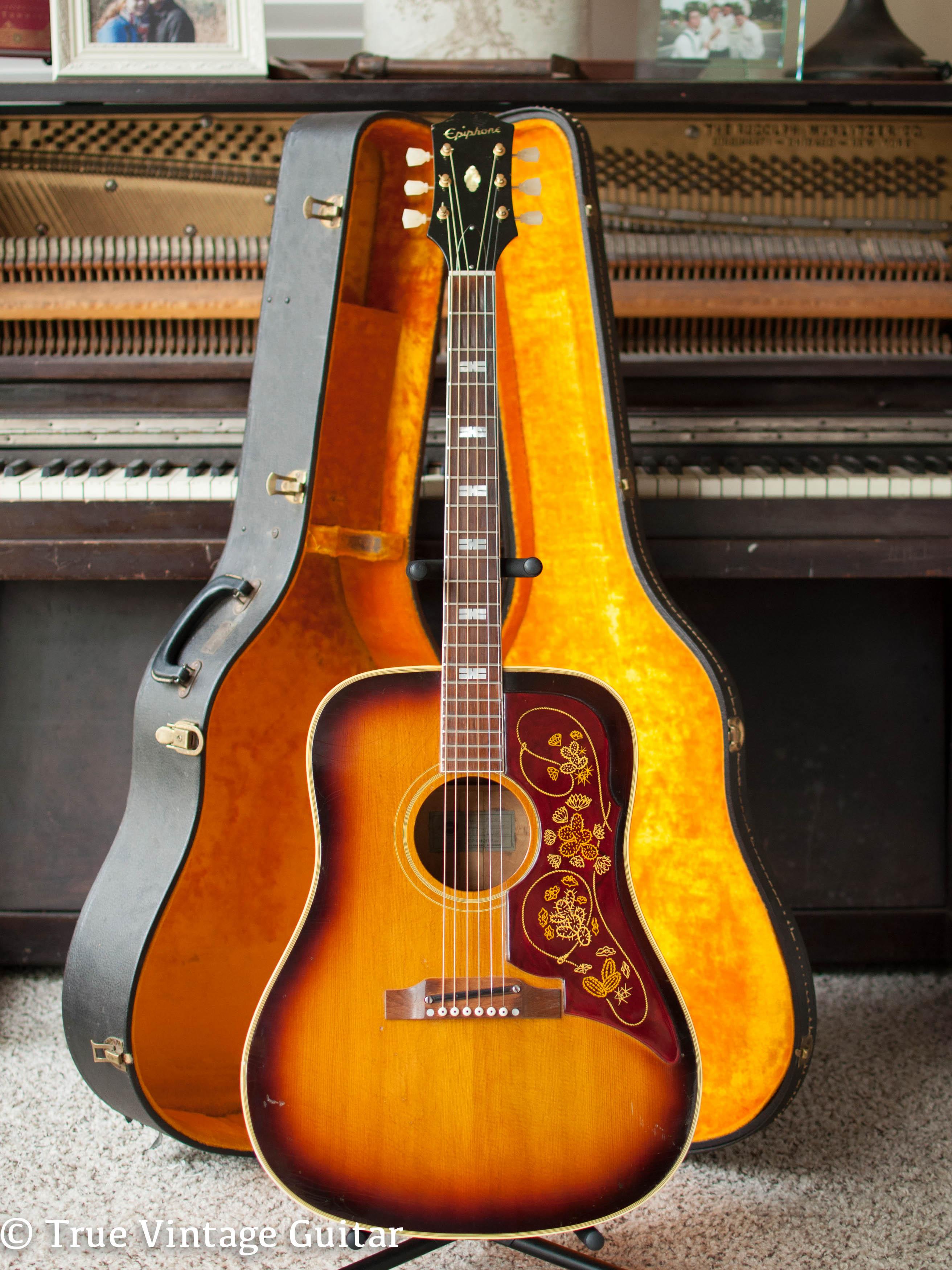 epiphone ft 110 frontier 1963 guitar for sale true vintage guitar. Black Bedroom Furniture Sets. Home Design Ideas