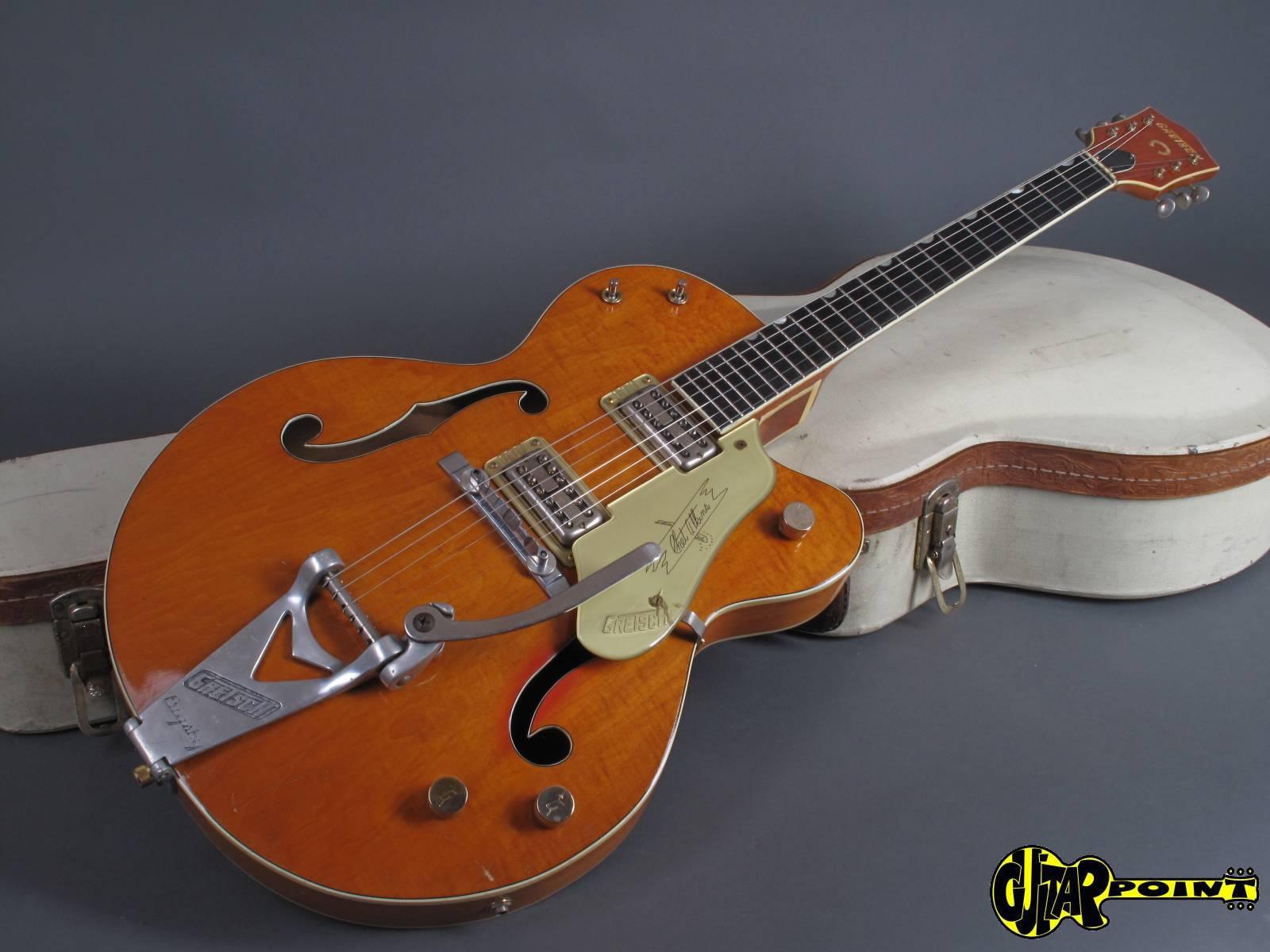 gretsch 6120 chet atkins 1961 orange guitar for sale guitarpoint. Black Bedroom Furniture Sets. Home Design Ideas