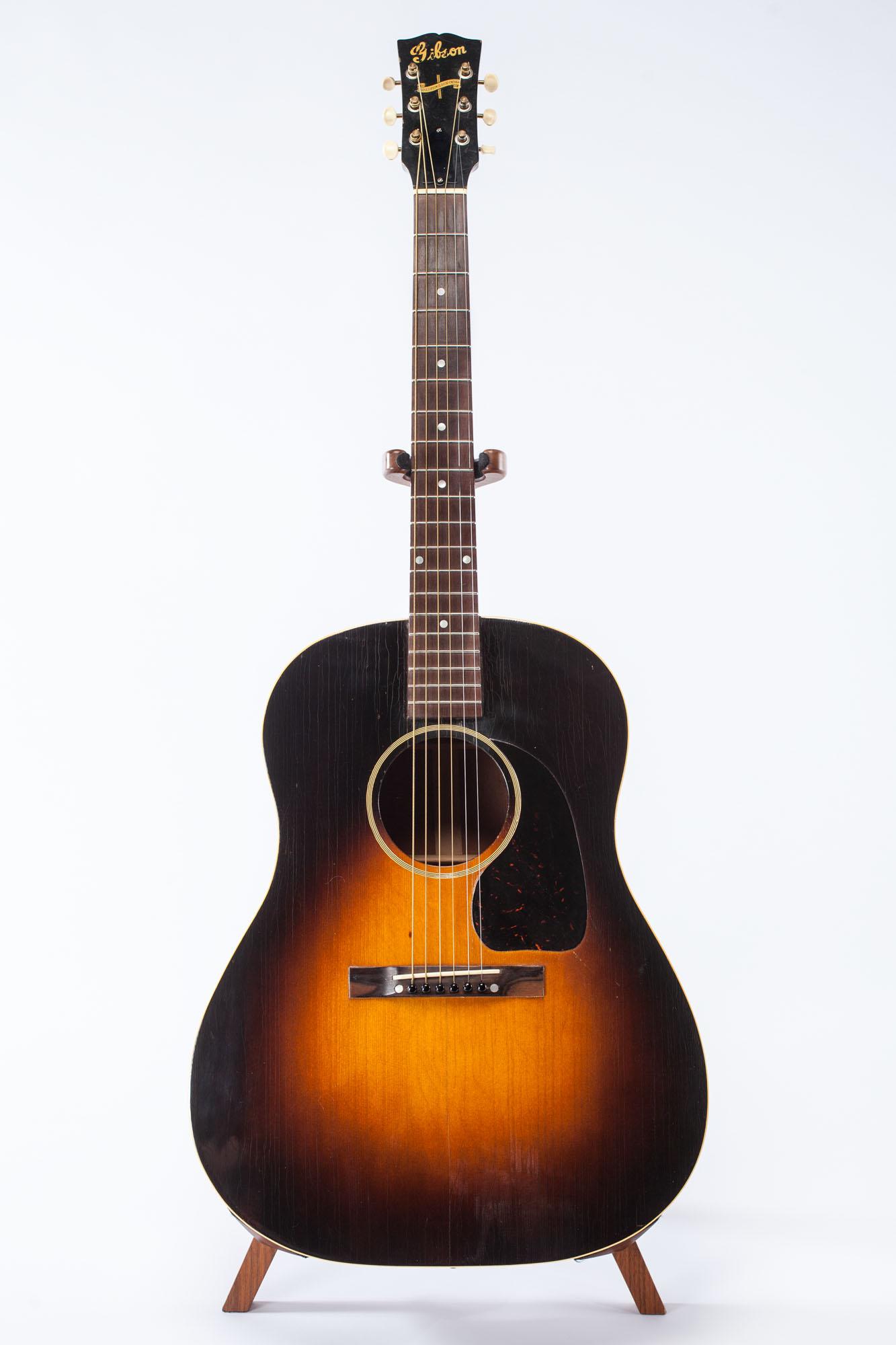 gibson banner j 45 1944 sunburst guitar for sale jet city. Black Bedroom Furniture Sets. Home Design Ideas