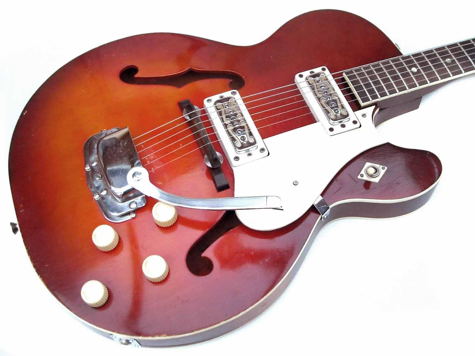 harmony rocket ii 1966 redburst guitar for sale wutzdog guitars. Black Bedroom Furniture Sets. Home Design Ideas
