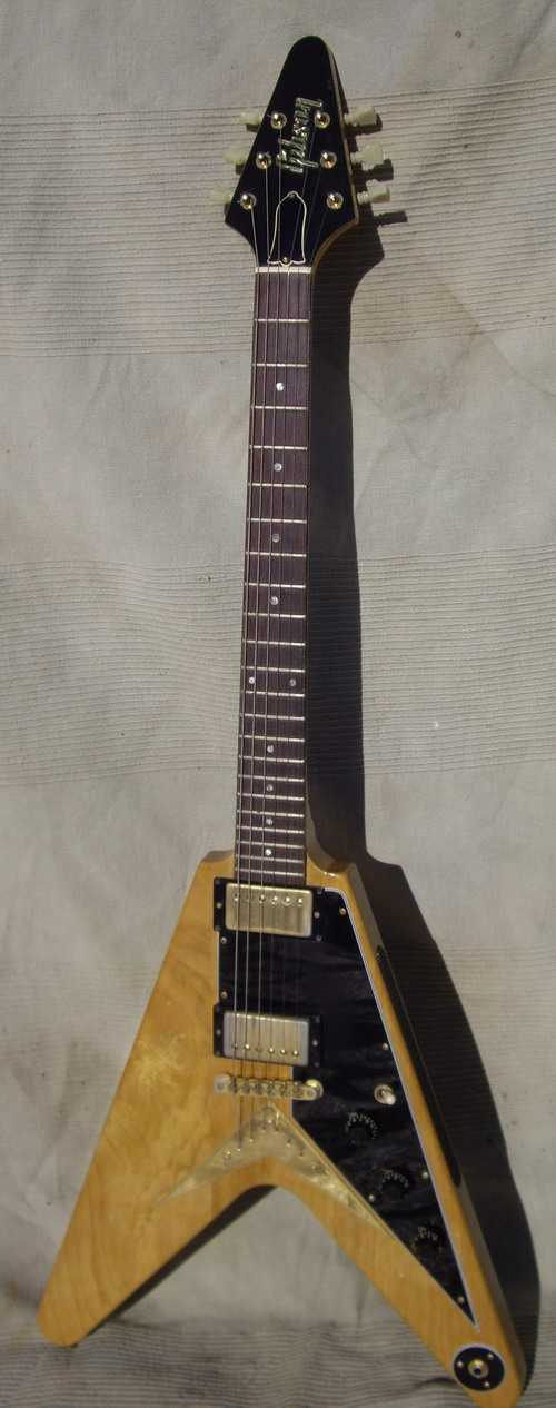 gibson flying v korina limit ed 1981 natural guitar for sale hendrix guitars. Black Bedroom Furniture Sets. Home Design Ideas