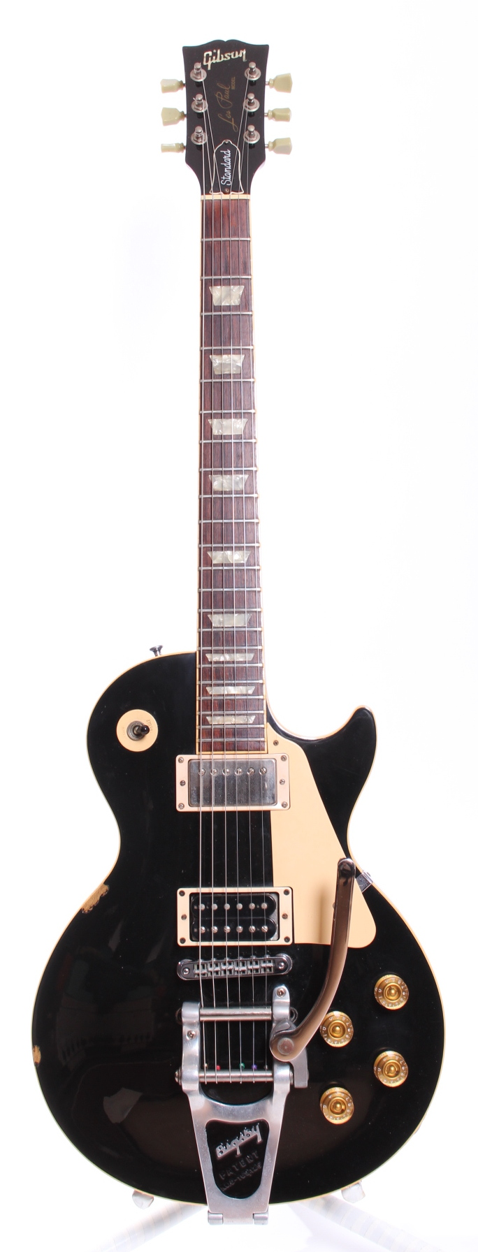 gibson les paul standard 1995 ebony guitar for sale yeahman 39 s guitars. Black Bedroom Furniture Sets. Home Design Ideas