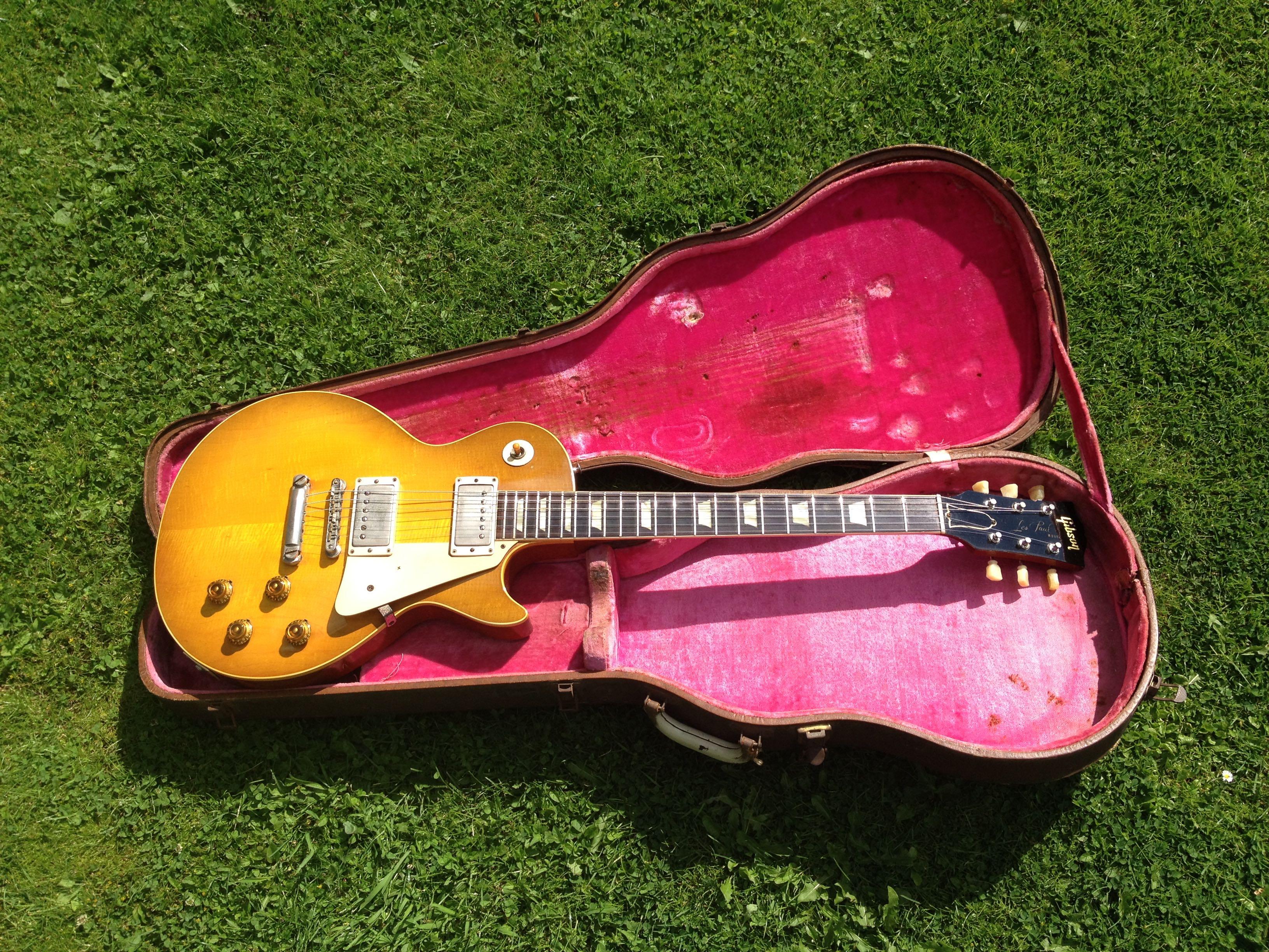 gibson les paul standard 1959 lemon drop guitar for sale denmark street guitars. Black Bedroom Furniture Sets. Home Design Ideas