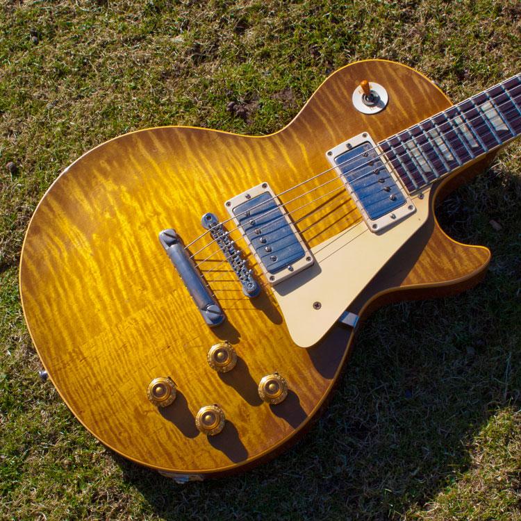 gibson les paul standard 39 grainger burst 39 1959 sunburst guitar for sale denmark street guitars. Black Bedroom Furniture Sets. Home Design Ideas