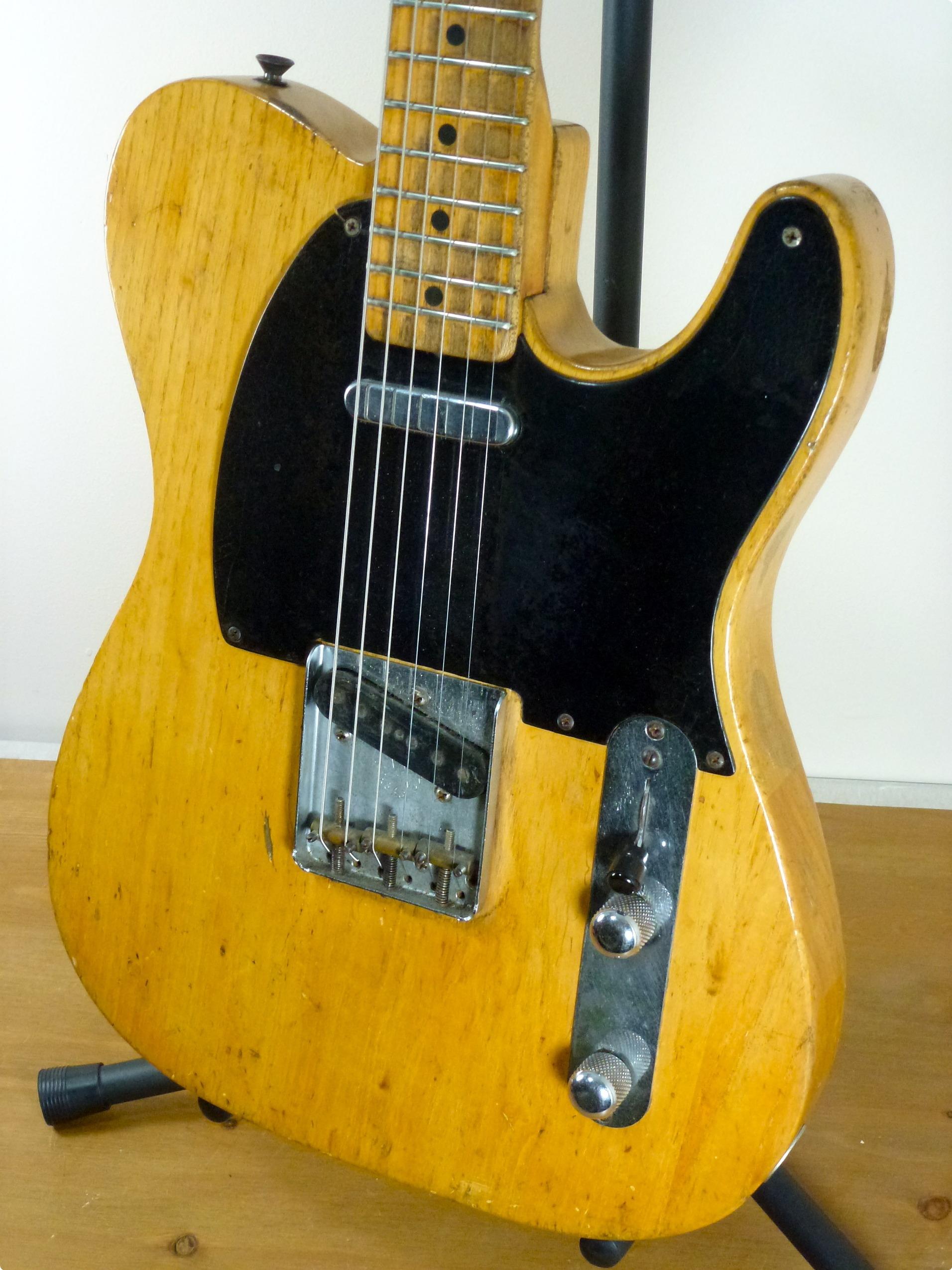 fender telecaster 1953 natural guitar for sale rock stars guitars. Black Bedroom Furniture Sets. Home Design Ideas
