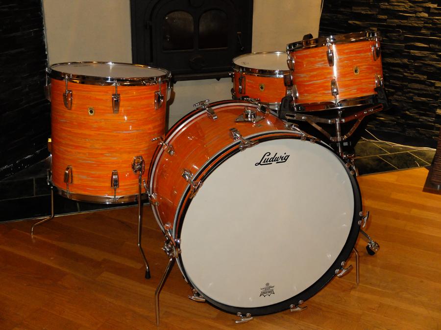 ludwig vintage 1969 mod orange drum percussion for sale plektrum. Black Bedroom Furniture Sets. Home Design Ideas