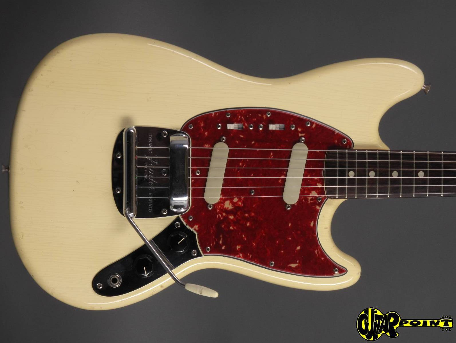 fender mustang 1965 olympic white guitar for sale guitarpoint. Black Bedroom Furniture Sets. Home Design Ideas