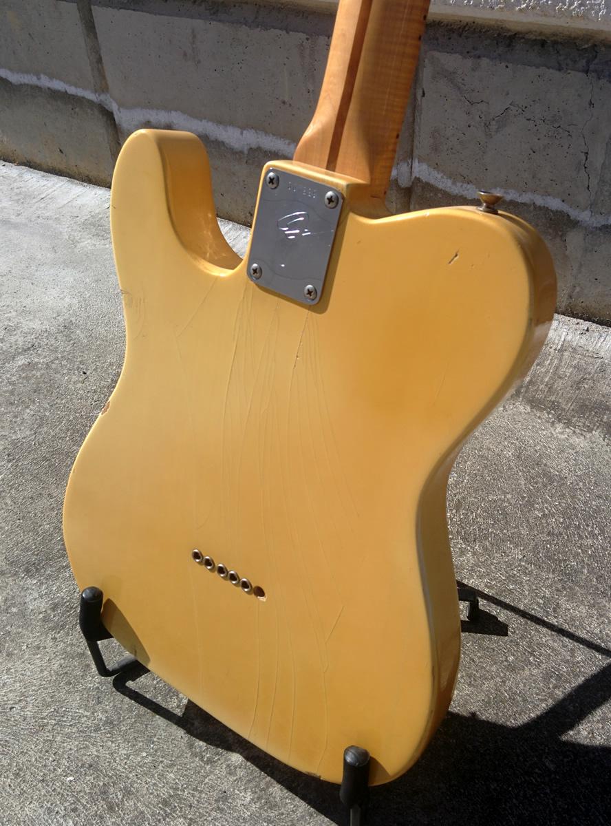fender telecaster curly maple neck 1971 blonde guitar for sale dorian vintage guitars. Black Bedroom Furniture Sets. Home Design Ideas