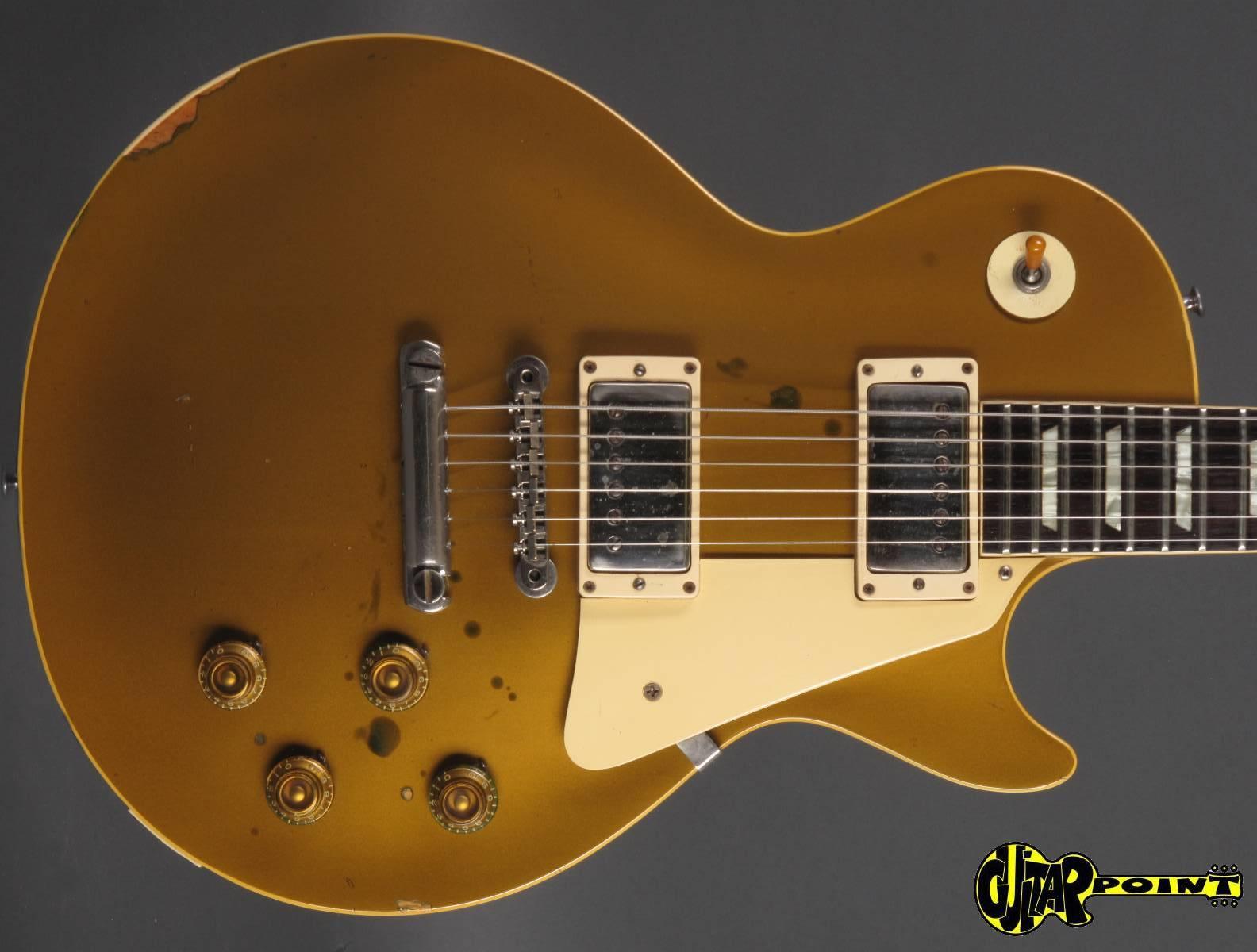 gibson les paul standard goldtop 1957 goltop gold metallic guitar for sale guitarpoint. Black Bedroom Furniture Sets. Home Design Ideas