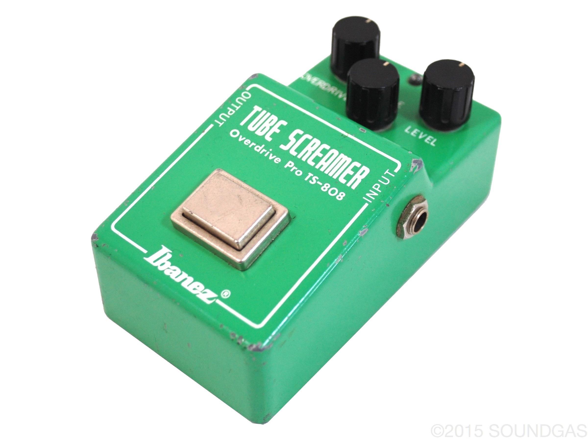 ibanez ts 808 tube screamer 1981 effect pedal for sale soundgas ltd. Black Bedroom Furniture Sets. Home Design Ideas