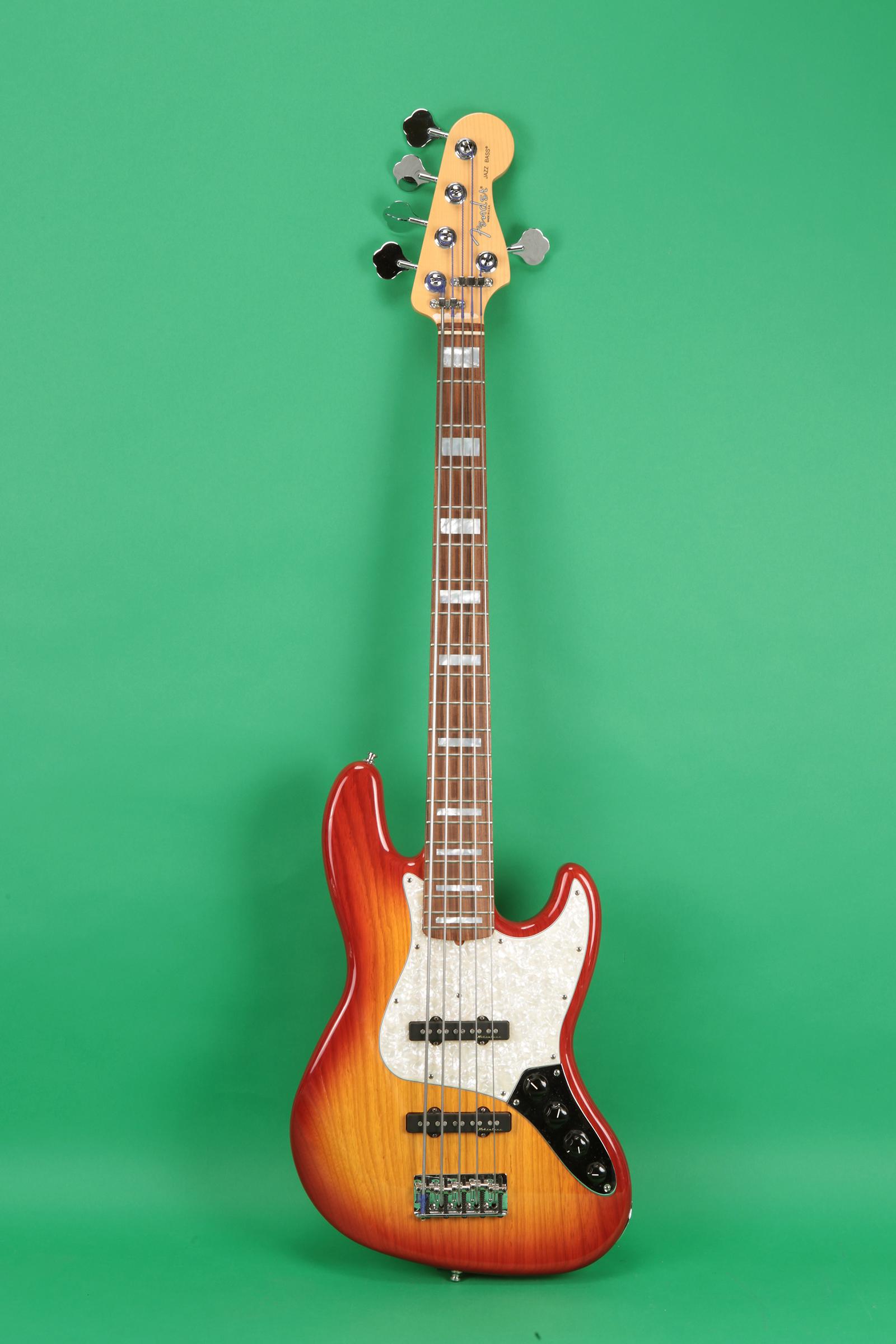 fender custom shop 5 string jazz bass 2005 sunburst. Black Bedroom Furniture Sets. Home Design Ideas