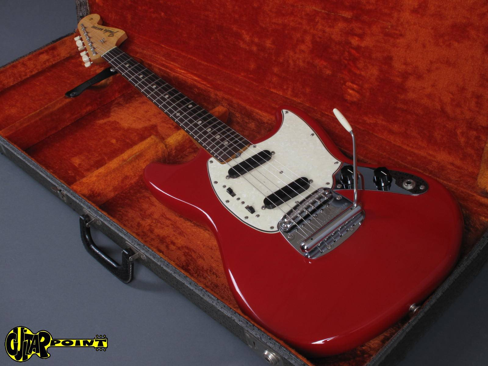 fender mustang 1965 dakota red guitar for sale guitarpoint. Black Bedroom Furniture Sets. Home Design Ideas