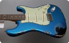 Fender Custom Shop 1962 HEAVY RELIC STRATOCASTER 2015 NAMM 2015 BLUE SPARKLE OVER BLACK